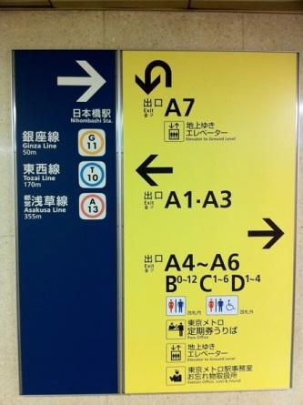 東京メトロ换乘提示